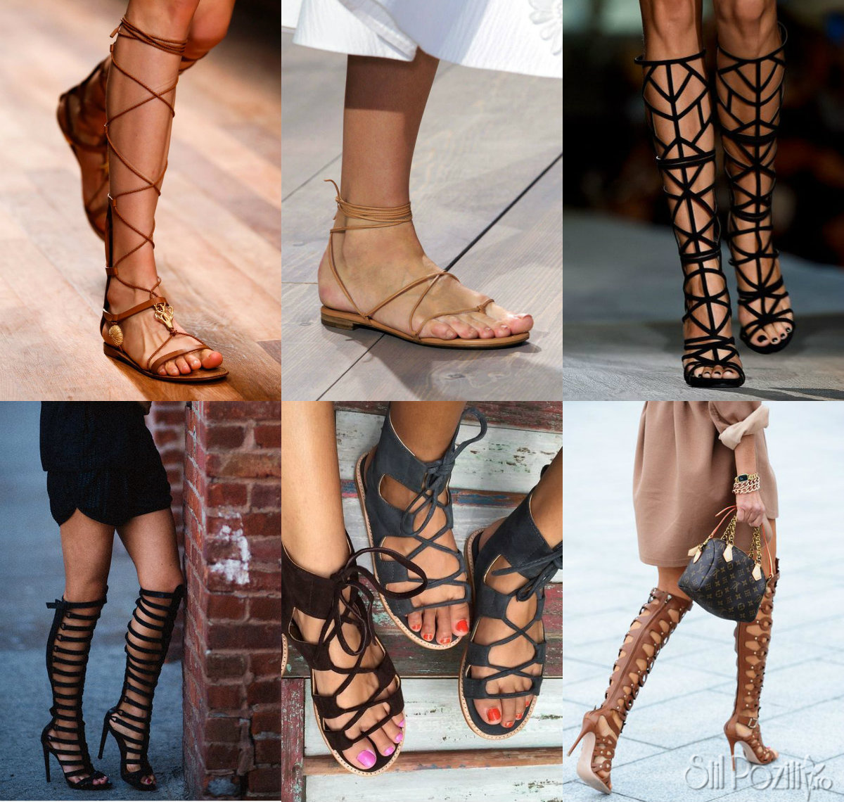 sandale gladiator cu toc