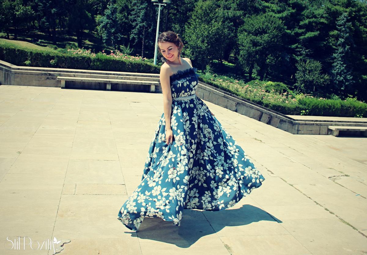 rochie larga eleganta