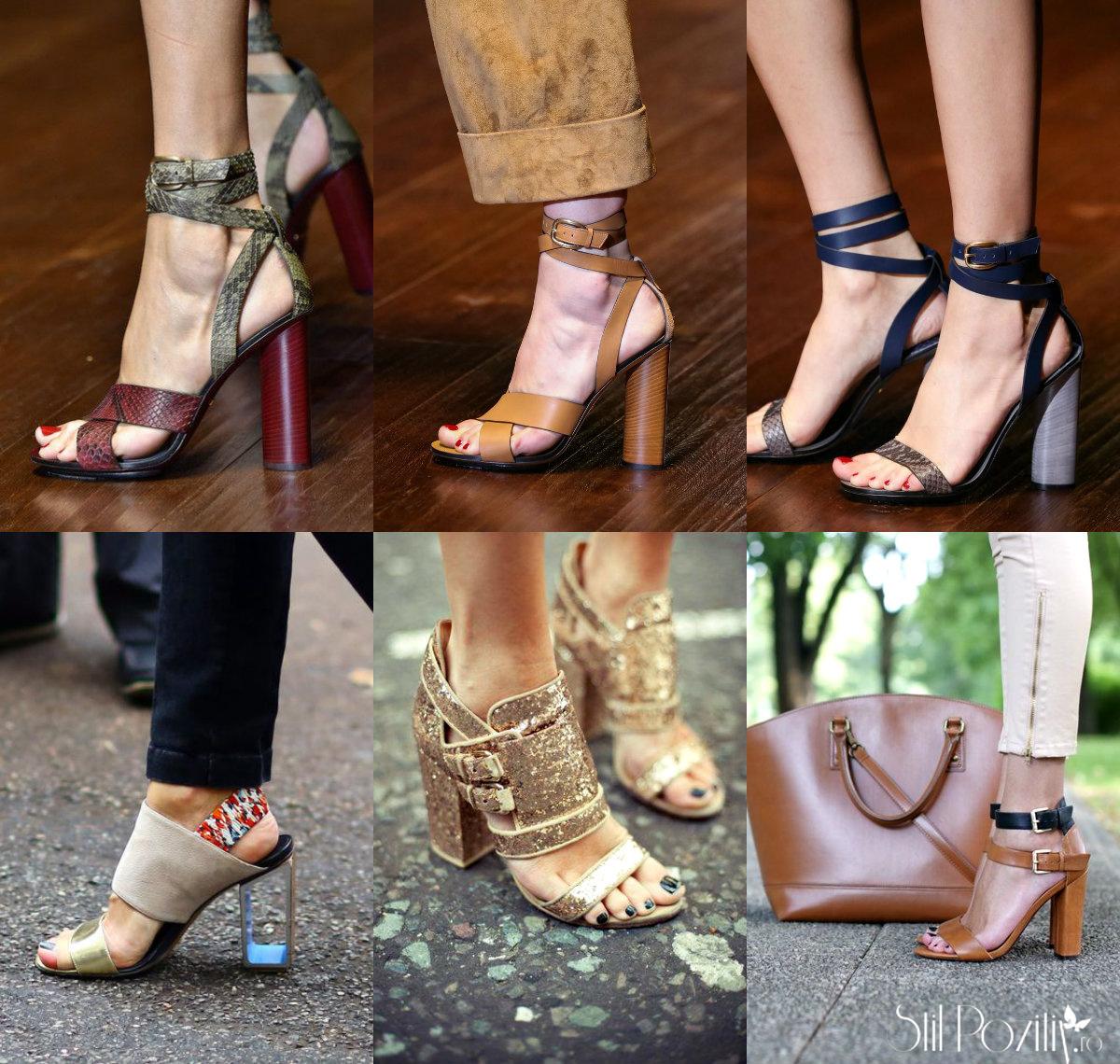 sandale cu toc gros